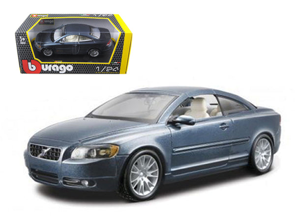 Volvo C70 Coupe Blue 1/24 Diecast Model Car by Bburago