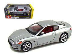 2008 Maserati Gran Turismo Silver/Gray 1/24 Diecast Model Car by Bburago