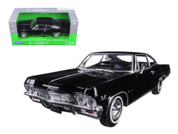 1965 Chevrolet Impala SS 396 Black 1/24 Diecast Model Car by Welly