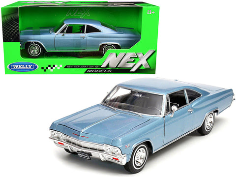 1965 Chevrolet Impala SS 396 Light Blue 1/24 Diecast Model Car by Welly