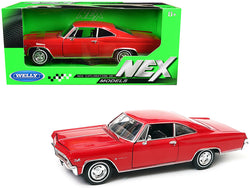 1965 Chevrolet Impala SS 396 Red 1/24 Diecast Model Car by Welly