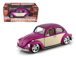 Volkswagen Beetle Low Rider Purple 1/24 Diecast Model Car by Welly