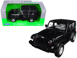 2007 Jeep Wrangler Dark Gray Metallic 1/24 - 1/27 Diecast Model by Welly