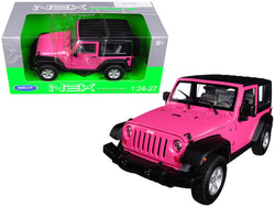 2007 Jeep Wrangler Pink 1/24 - 1/27 Diecast Model by Welly