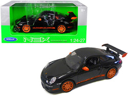Porsche 911 (997) GT3 RS Black 1/24-1/27 Diecast Model Car by Welly