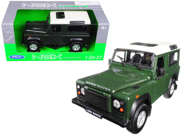 Land Rover Defender Green 1/24 - 1/27 Diecast Model by Welly