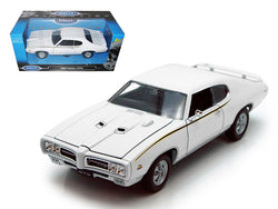 1969 Pontiac GTO Judge White 1/24 Diecast Model Car by Welly