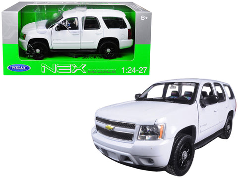 2008 Chevrolet Tahoe Unmarked Police Car White 1/24-1/27 Diecast Model Car by Welly