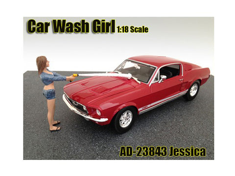 """Car Wash Girl"" Jessica Figure For 1:18 Diecast Models by American Diorama"