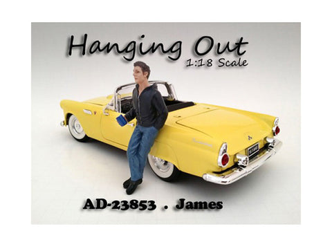 """Hanging Out"" James Figure For 1:18 Scale Diecast Models by American Diorama"