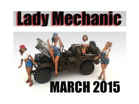 """Lady Mechanics"" (4 Piece Figure Set) For 1:18 Scale Diecast Models by American Diorama"
