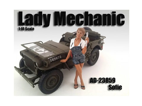 Lady Mechanic Sofie Figure For 1:18 Diecast Models by American Diorama