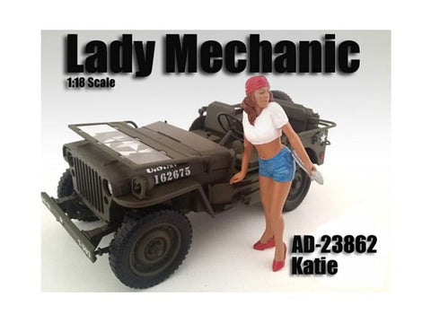 Lady Mechanic Katie Figure For 1:18 Diecast Models by American Diorama