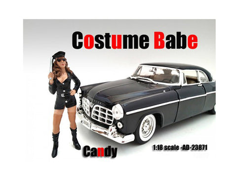 Costume Babe Candy Figure For 1:18 Diecast Models by American Diorama