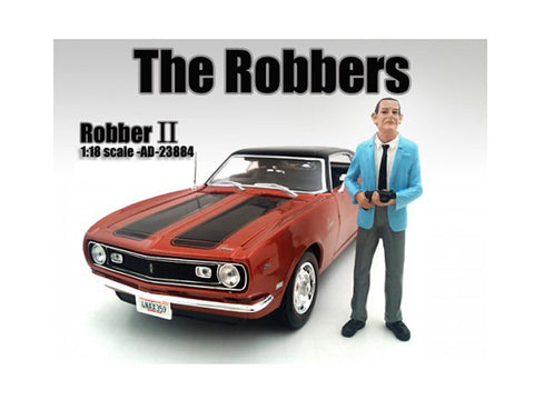 """The Robbers"" Robber #2 Figure For 1:18 Scale Diecast Models by American Diorama"