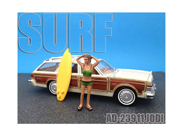 Surfer Jodi Figure for 1/24 Scale Models by American Diorama