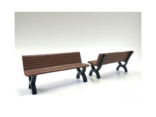 Bench Accessory 2 Piece Set for 1:18 Diecast Models by American Diorama