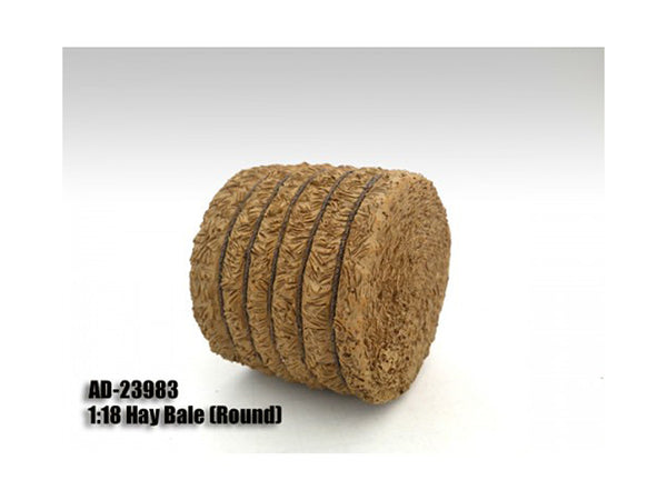 Hay Bale Round Accessory for 1:18 Diecast Models by American Diorama