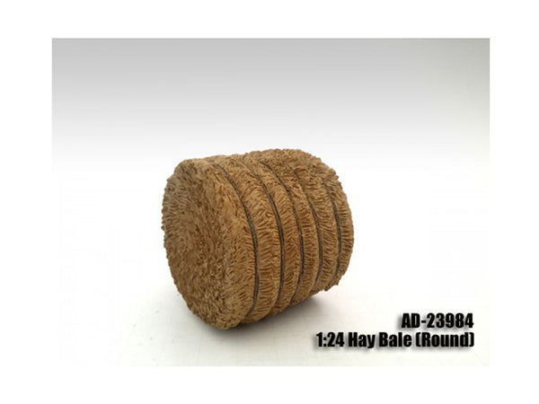 Hay Bale Round Accessory for 1:24 Scale Models by American Diorama