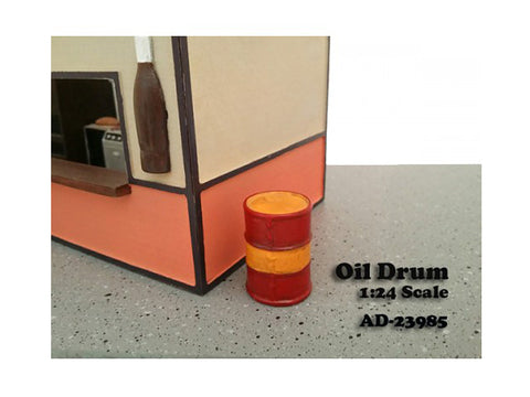 Oil Drum Accessory (Set of 2) For 1:24 Diecast Models by American Diorama