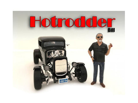 """Hotrodders"" Bill Figure For 1:18 Scale Diecast Models by American Diorama"