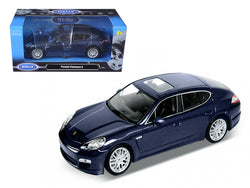 Porsche Panamera S Blue 1/24 Diecast Model Car by Welly