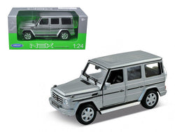 Mercedes Benz G Class Wagon Silver 1/24-1/27 Diecast Model Car by Welly