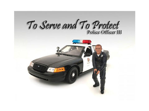 Police Officer III Figure For 1:18 Diecast Models by American Diorama