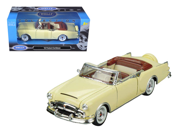 1953 Packard Caribbean Convertible Cream 1/24 Diecast Model Car by Welly