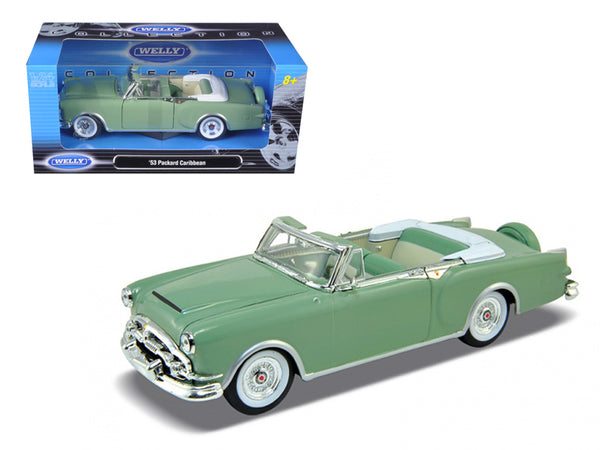 1953 Packard Caribbean Convertible Green 1/24 Diecast Model Car by Welly