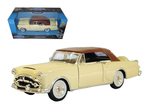1953 Packard Caribbean Soft Top Cream 1/24 Diecast Model Car by Welly