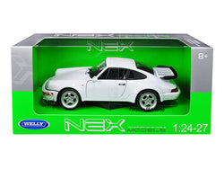 Porsche 964 Turbo White 1/24-1/27 Diecast Model Car by Welly