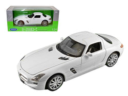 Mercedes SLS AMG White 1/24 Diecast Model Car by Welly
