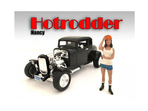 """Hotrodders"" Nancy Figure For 1:24 Scale Diecast Models by American Diorama"