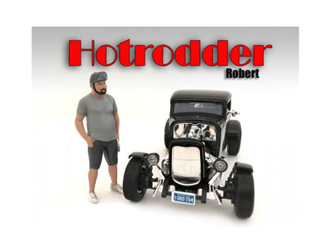 """Hotrodders"" Robert Figure For 1:24 Scale Diecast Models by American Diorama"