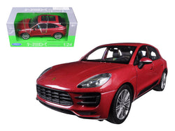Porsche Macan Turbo Red 1/24 Diecast Model Car by Welly