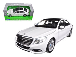 Mercedes Benz S Class White 1/24-1/27 Diecast Model Car by Welly