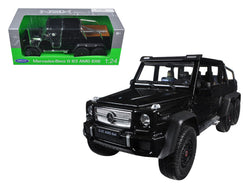 Mercedes G 63 AMG 6X6 Black 1/24 Diecast Model Car by Welly