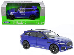 Jaguar F-Pace Blue 1/24 - 1/27 Diecast Model Car by Welly