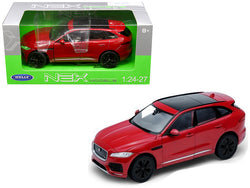 Jaguar F-Pace Red 1/24 - 1/27 Diecast Model Car by Welly
