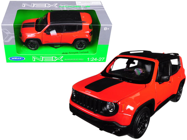 Jeep Renegade Trailhawk Orange 1/24 - 1/27 Diecast Model by Welly