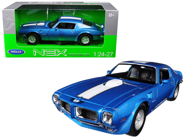 1972 Pontiac Firebird Trans Am Blue 1/24 - 1/27 Diecast Model Car by Welly