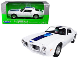 1972 Pontiac Firebird Trans Am White 1/24 - 1/27 Diecast Model Car by Welly