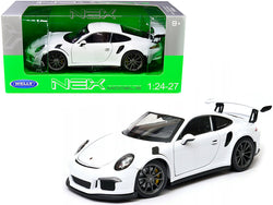 Porsche 911 GT3 RS White 1/24-1/27 Diecast Model Car by Welly