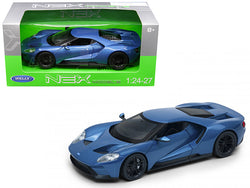 2017 Ford GT Blue 1/24 - 1/27 Diecast Model Car by Welly