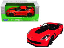 2017 Chevrolet Corvette Z06 Red 1/24-1/27 Diecast Model Car by Welly