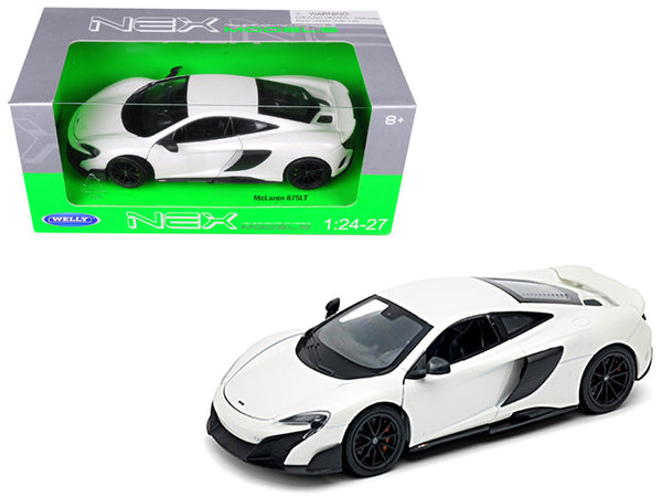 McLaren 675LT Coupe White 1/24-1/27 Diecast Model Car by Welly