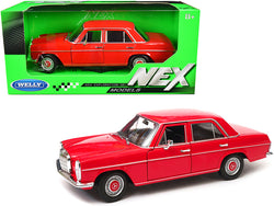 "Mercedes Benz 220 Red ""NEX Models"" 1/24 Diecast Model Car by Welly"