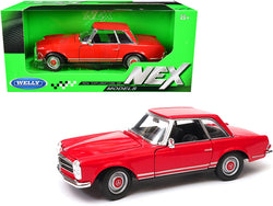 "1963 Mercedes Benz 230SL Coupe Red ""NEX Models"" 1/24 Diecast Model Car by Welly"