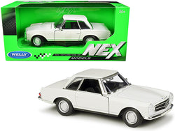 "1963 Mercedes Benz 230SL Coupe Cream ""NEX Models"" 1/24 Diecast Model Car by Welly"